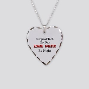 Surgical Tech/Zombie Hunter Necklace Heart Charm