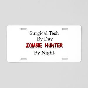 Surgical Tech/Zombie Hunter Aluminum License Plate