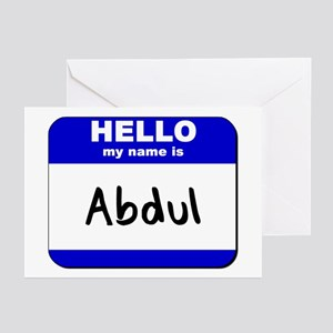 hello my name is abdul  Greeting Cards (Package of