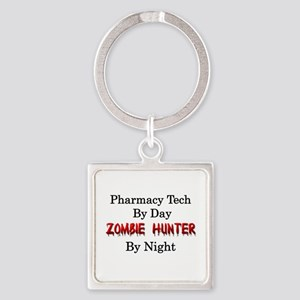 Pharmacy Tech/Zombie Hunter Square Keychain