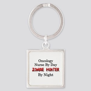 Oncology Nurse/Zombie Hunter Square Keychain
