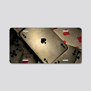 Playing Cards Aluminum License Plate