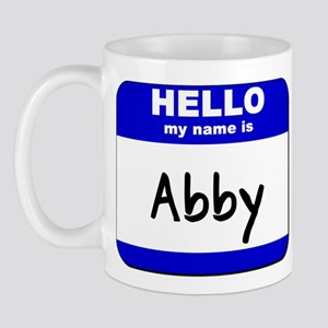 hello my name is abby  Mug
