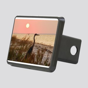 Heron at Sunset Rectangular Hitch Cover