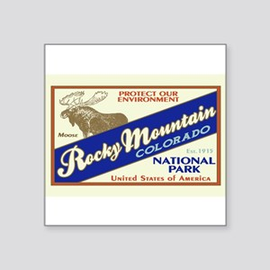 Rocky Mountain (Moose) Rectangle Sticker