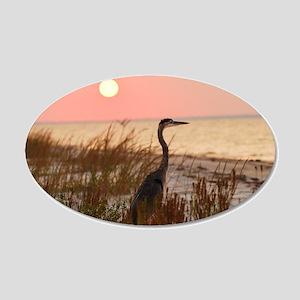 Heron at Sunset Wall Decal