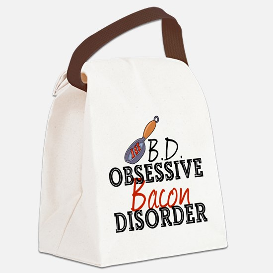 Funny Bacon Canvas Lunch Bag