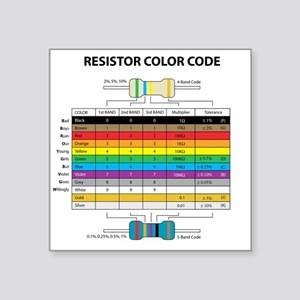 Resistor Color Rectangle Sticker
