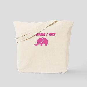 Custom Pink Elephant Tote Bag