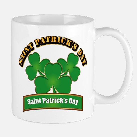 Saint Patrick's Day with text Mug