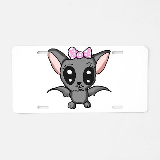 Cute bat Aluminum License Plate