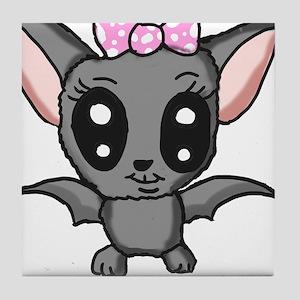 Cute bat Tile Coaster