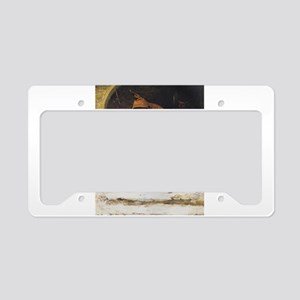 Monk and two St Bernards License Plate Holder