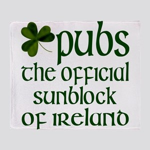 Irish Sunblock Throw Blanket