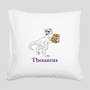 Thesaurus Square Canvas Pillow