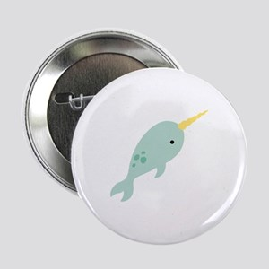 "Narwhal Sea Whale Animal 2.25"" Button"