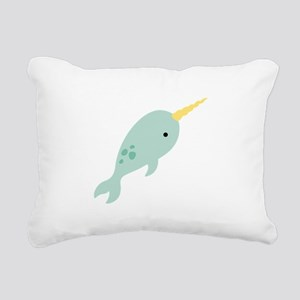 Narwhal Sea Whale Animal Rectangular Canvas Pillow