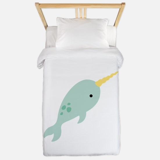 Narwhal Sea Whale Animal Twin Duvet