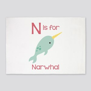 N Is For Narwhal 5'x7'Area Rug