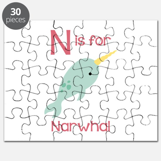 N Is For Narwhal Puzzle