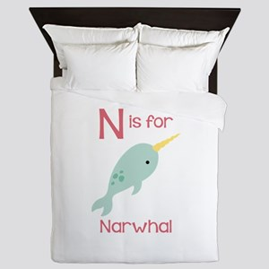 N Is For Narwhal Queen Duvet