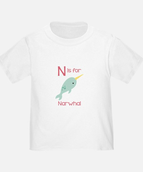 N Is For Narwhal T-Shirt