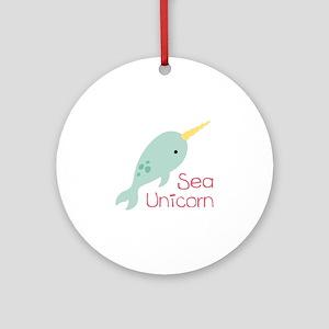 Sea Unicorn Ornament (Round)