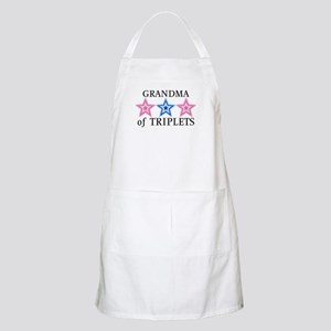 Grandma of Triplets (Girls, Boy) Stars BBQ Apron