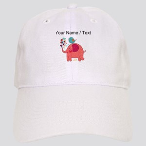 be0919a3b81 Custom Red Elephant And Bird Baseball Cap