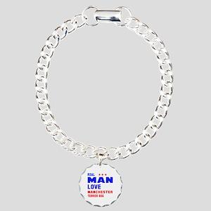 Real Man Love Manchester Charm Bracelet, One Charm