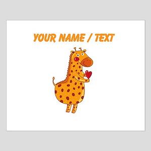 Custom Valentines Day Giraffe Posters