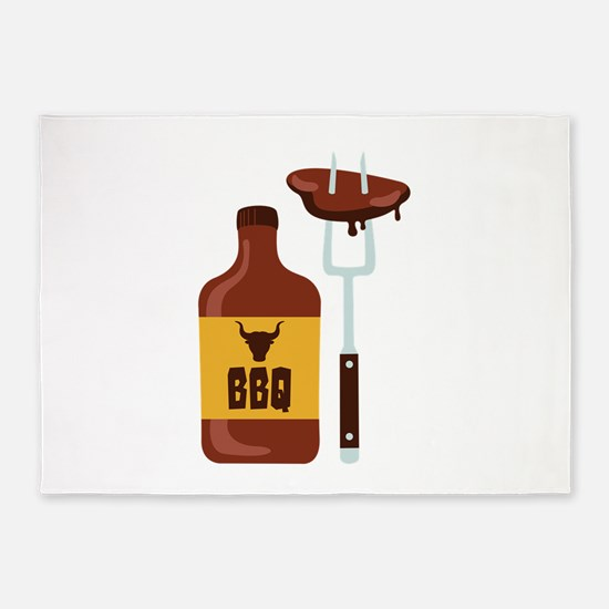 Barbeque Sauce Meat BBQ 5'x7'Area Rug