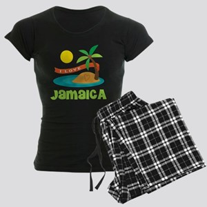 I Love Jamaica Women's Dark Pajamas