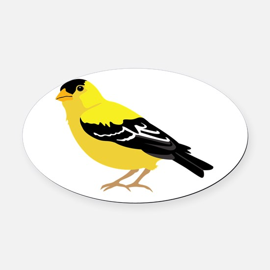 American Goldfinch Oval Car Magnet