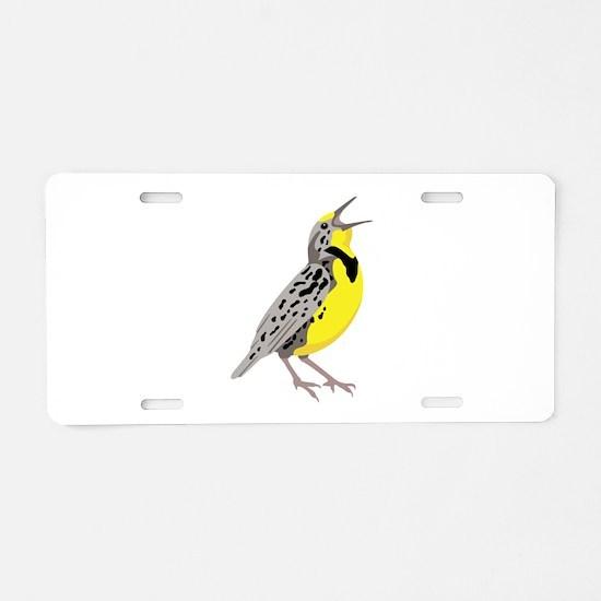 Western Meadowlark Aluminum License Plate