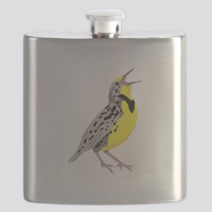 Western Meadowlark Flask