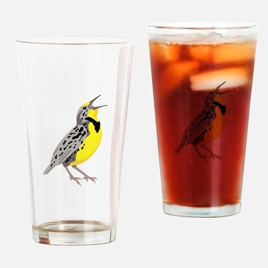 Western Meadowlark Drinking Glass
