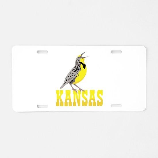 KANSAS Meadowlark Aluminum License Plate