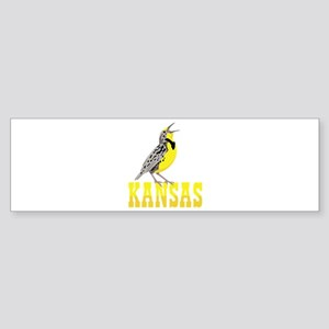 KANSAS Meadowlark Bumper Sticker