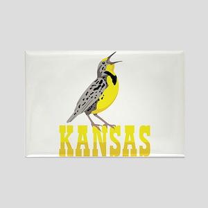 KANSAS Meadowlark Magnets