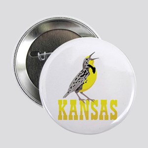 """KANSAS Meadowlark 2.25"""" Button"""