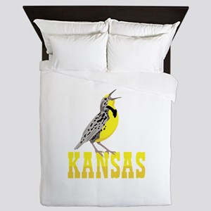 KANSAS Meadowlark Queen Duvet