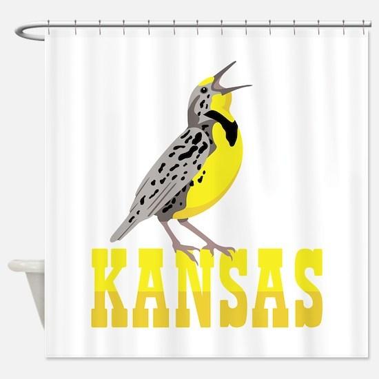 KANSAS Meadowlark Shower Curtain