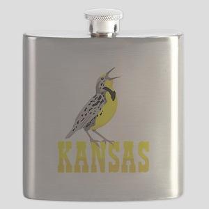 KANSAS Meadowlark Flask