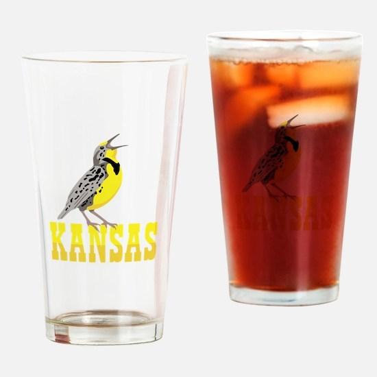 KANSAS Meadowlark Drinking Glass