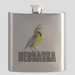 NEBRASKA Meadowlark Flask