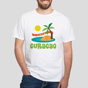 I Love Curacao White T-Shirt