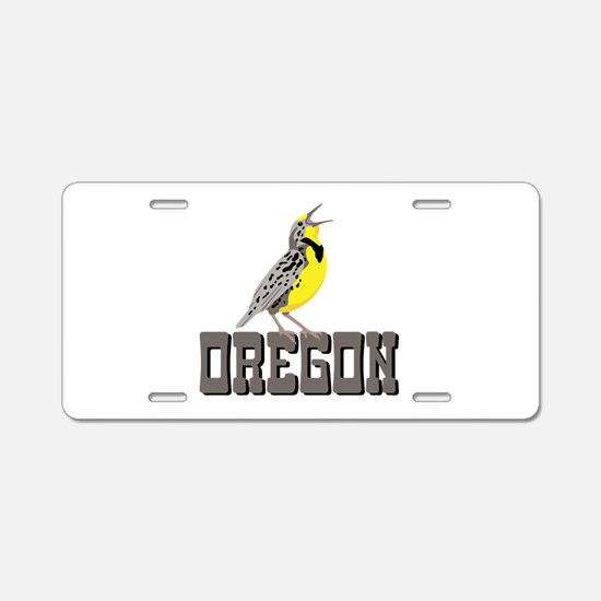 OREGON Meadowlark Aluminum License Plate