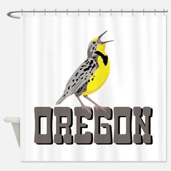 OREGON Meadowlark Shower Curtain