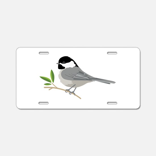 Black-Capped Chickadee Aluminum License Plate